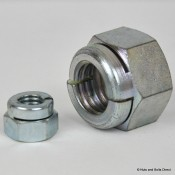 Aerotight Self-Locking Nuts, Metric, Steel
