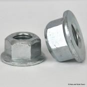 Coneloc Flange Self-Locking Nuts, Metric, Steel