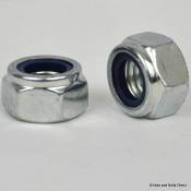 Nylon Insert Self-Locking Nuts, Metric, Steel