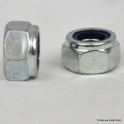 Nylon Insert Self-Locking Nuts, Imperial, UNC, Steel