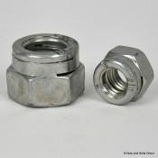 Snep Turret Self-Locking Nuts, Metric, Steel